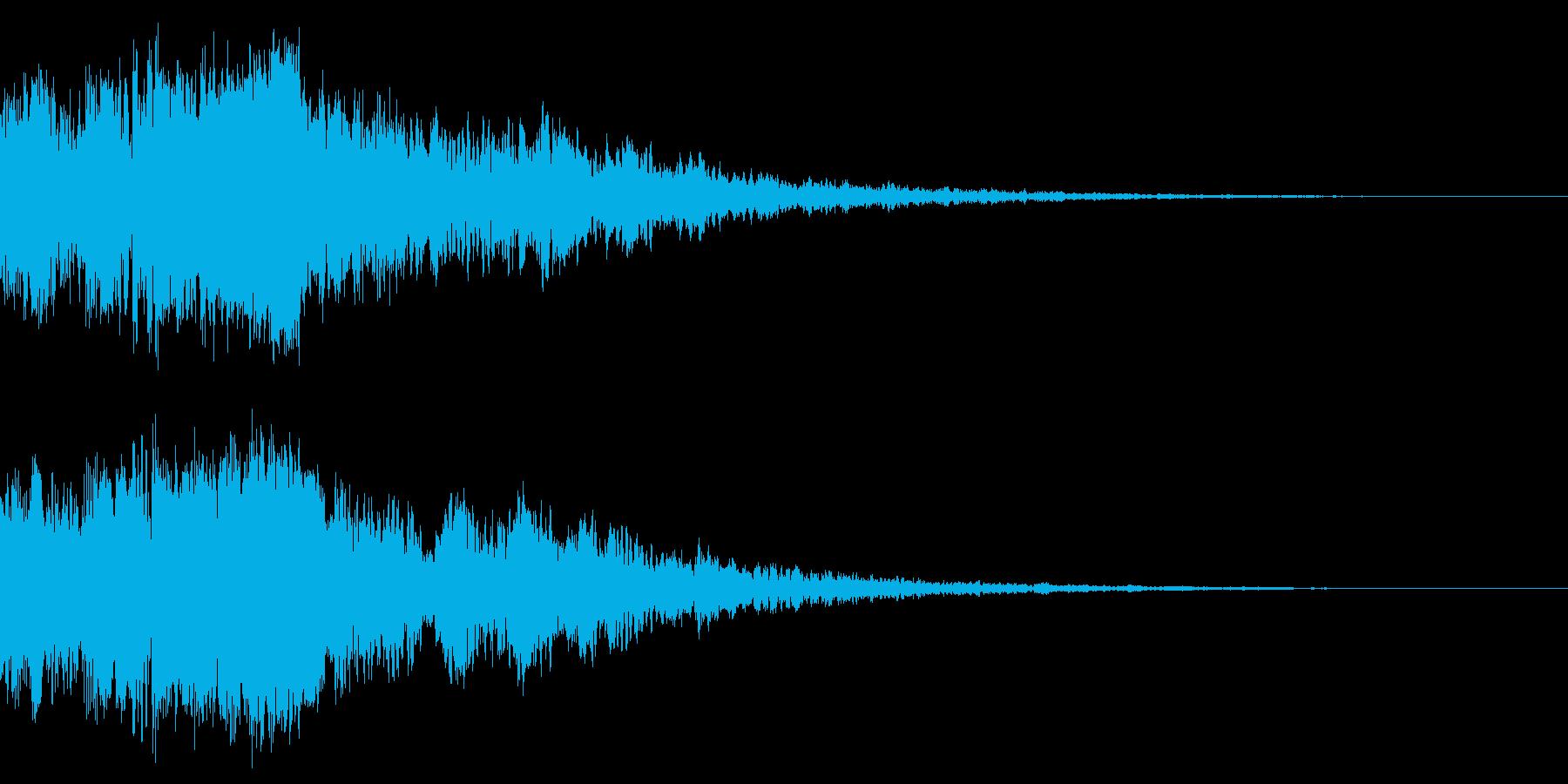 シャキーン(武器が光る)の再生済みの波形