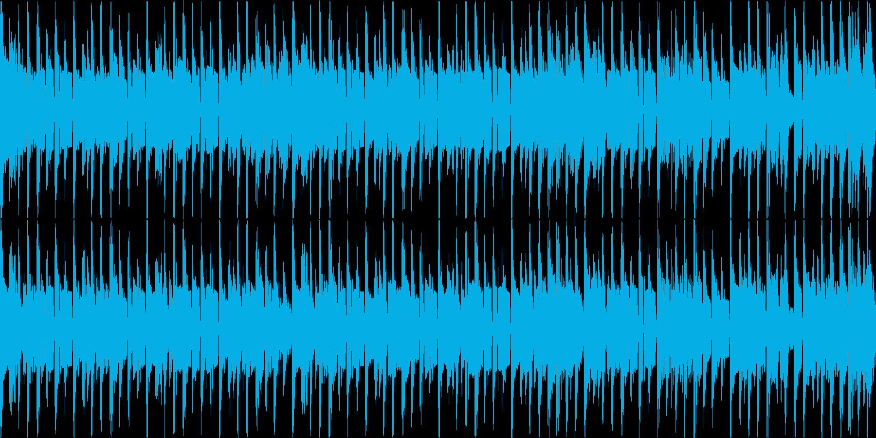 コミカルで陽気なブルースファンク・ループの再生済みの波形