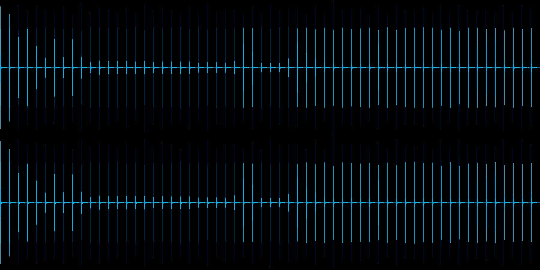 カチッ、カチッ……(時計の秒針)の再生済みの波形
