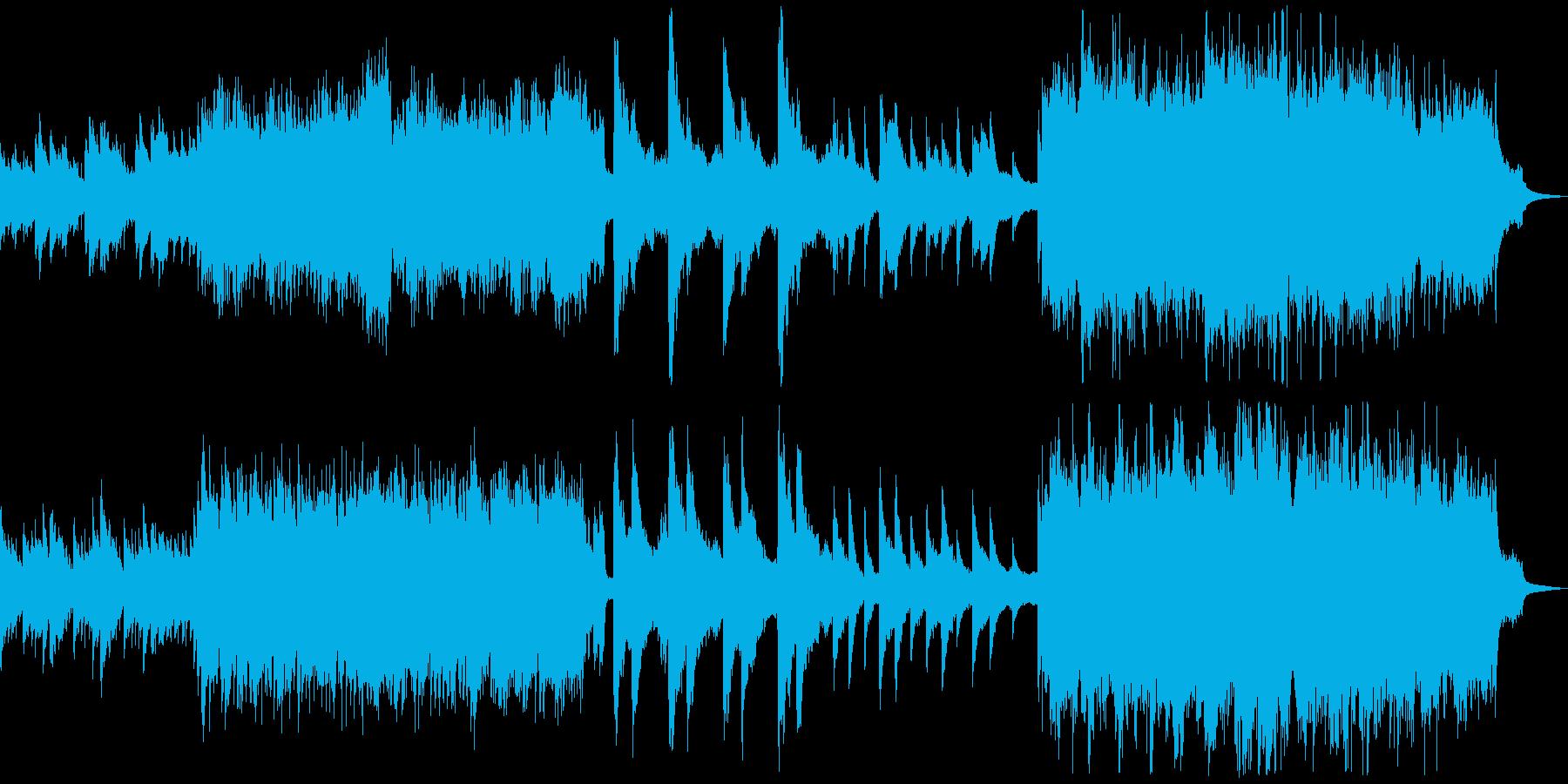 時計が動いているのをイメージした曲の再生済みの波形