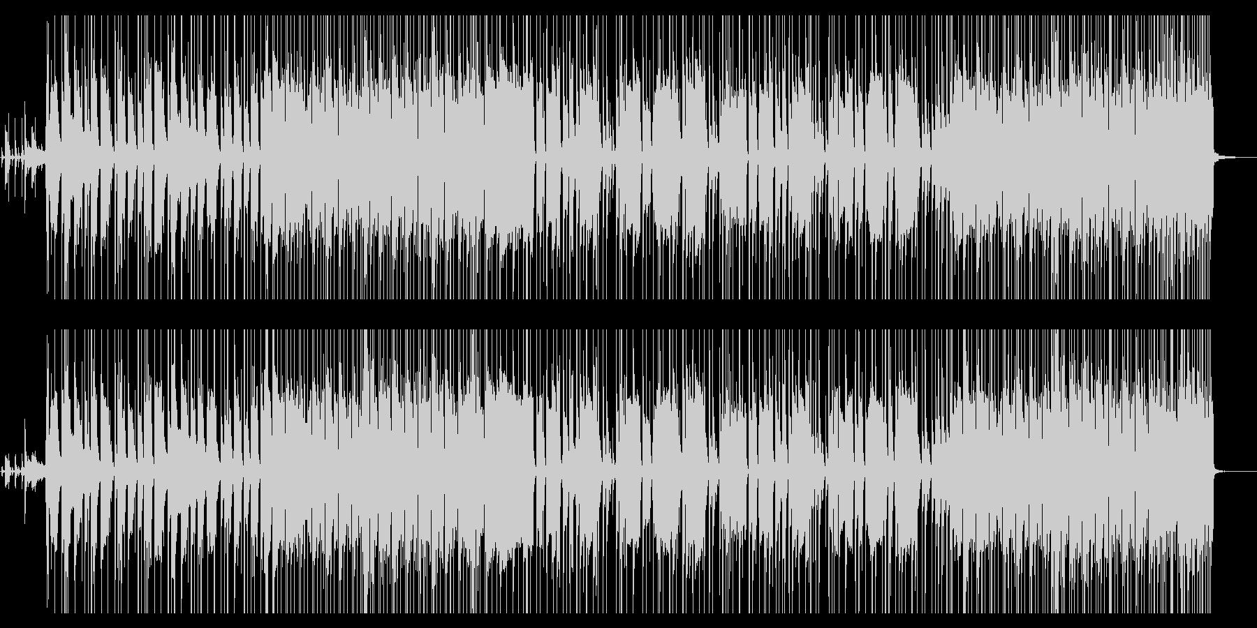 ベースが印象的なファンキー・ロックの未再生の波形