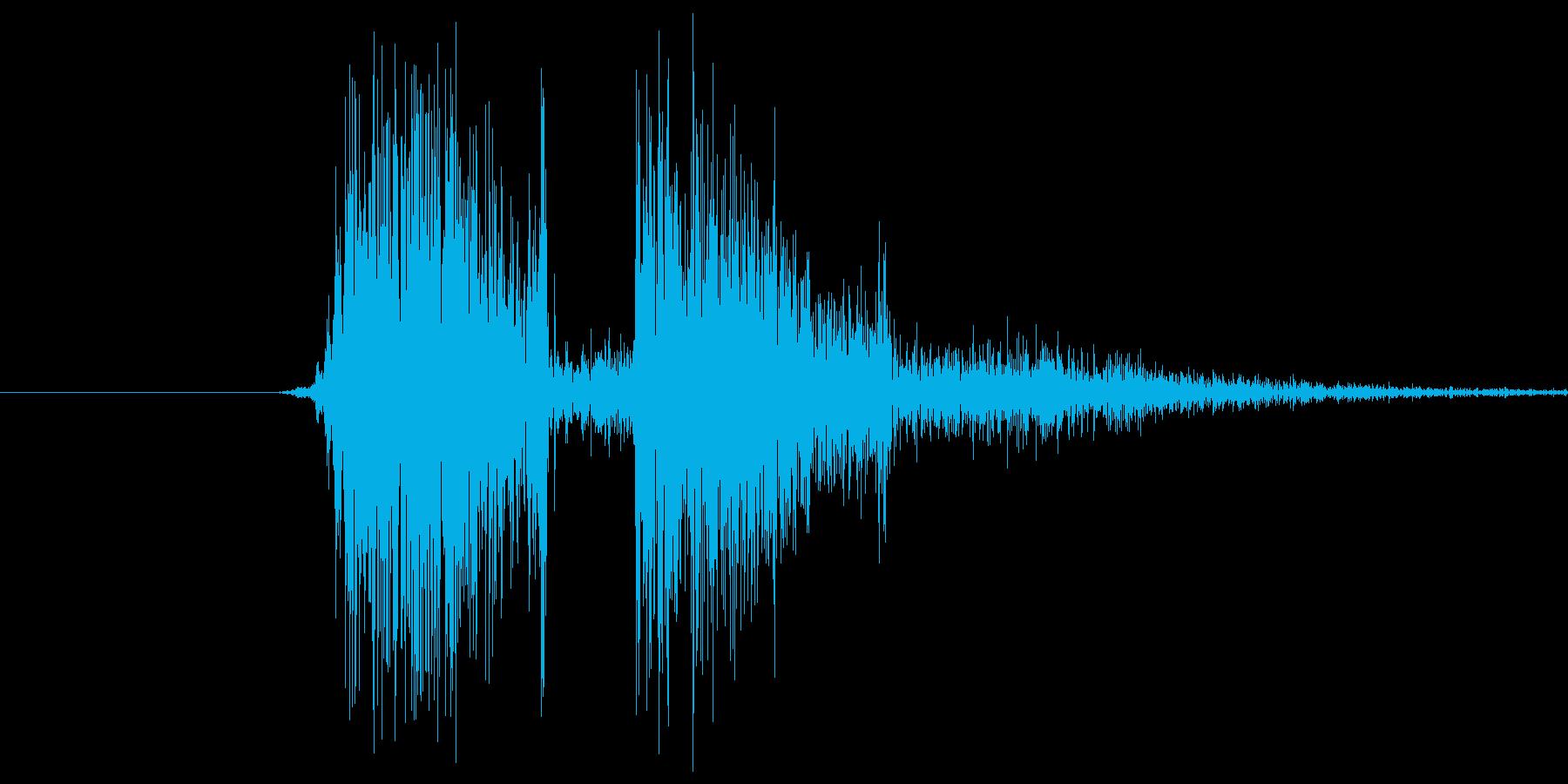 タン。銃を撃つ音です。やや高めの音です。の再生済みの波形