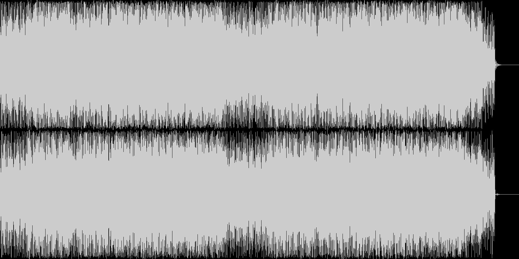 疾走するイメージのBGMの未再生の波形