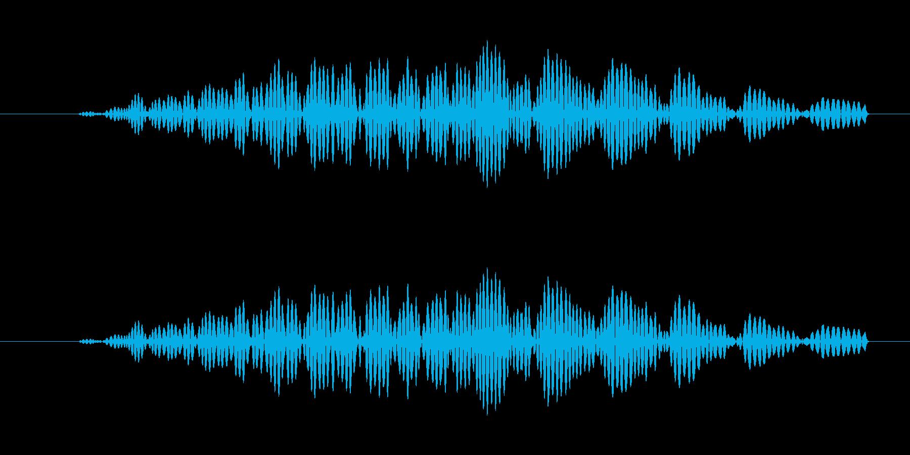 キャンセルボタン(ファンッ)の再生済みの波形