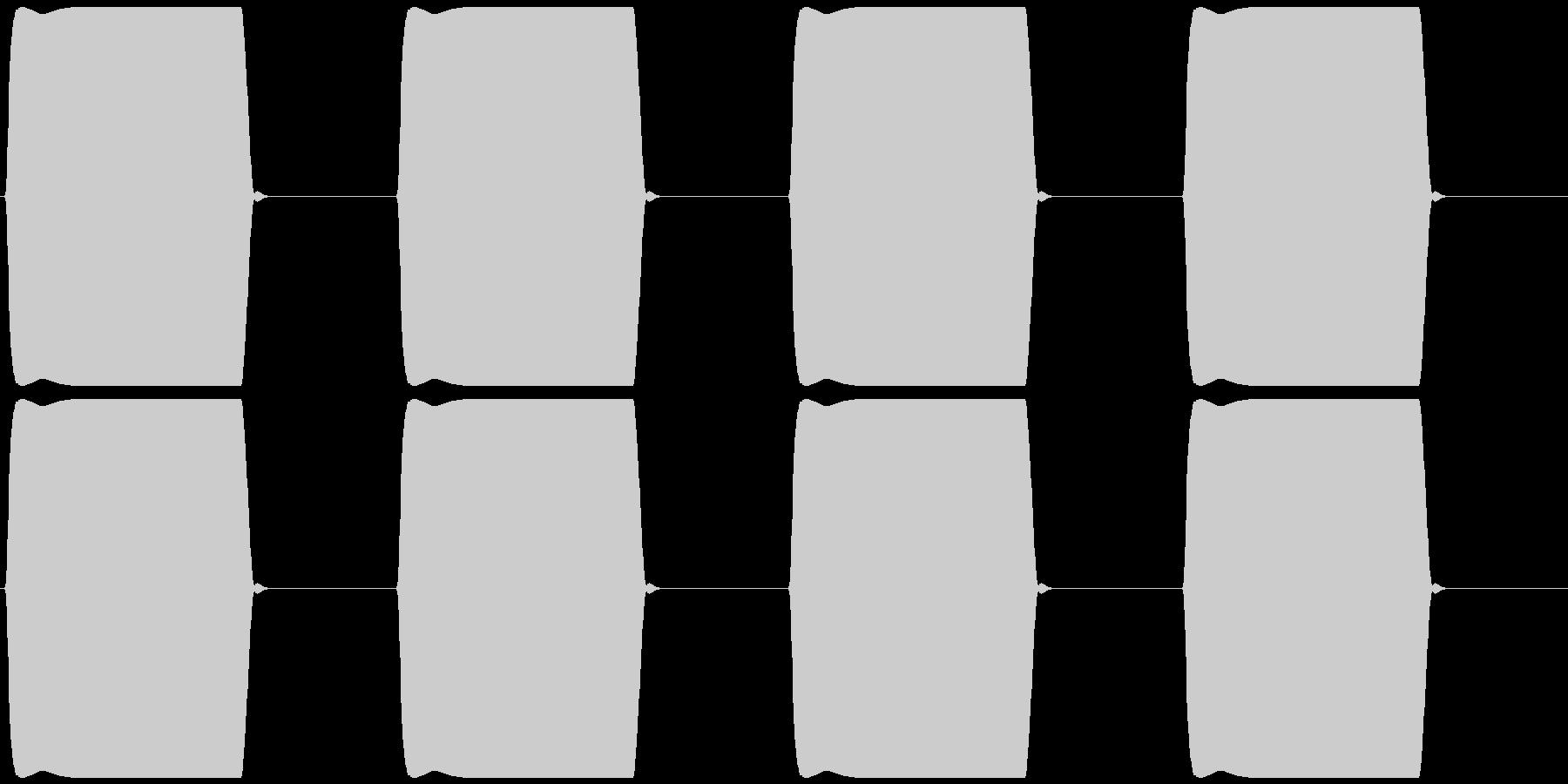 電話 切れる プー×4 (ツー)の未再生の波形