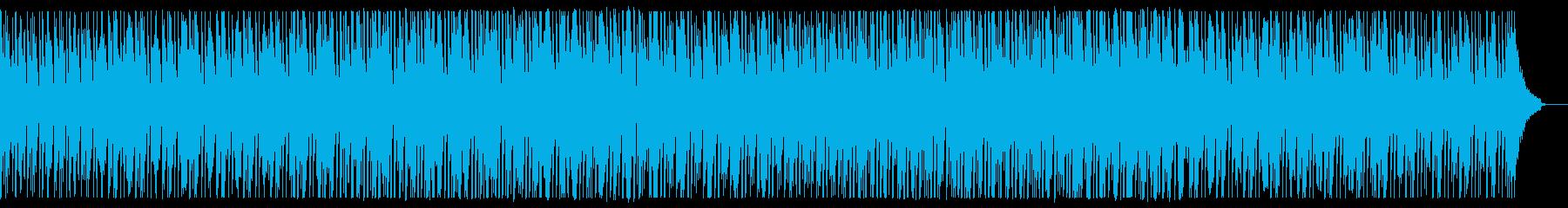 クリーンで落ち着いた説明向けのBGMの再生済みの波形