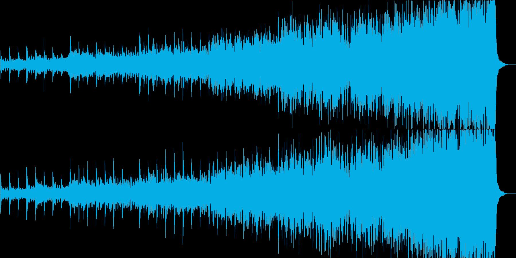 オーケストラを使用した壮大な曲、映像等にの再生済みの波形