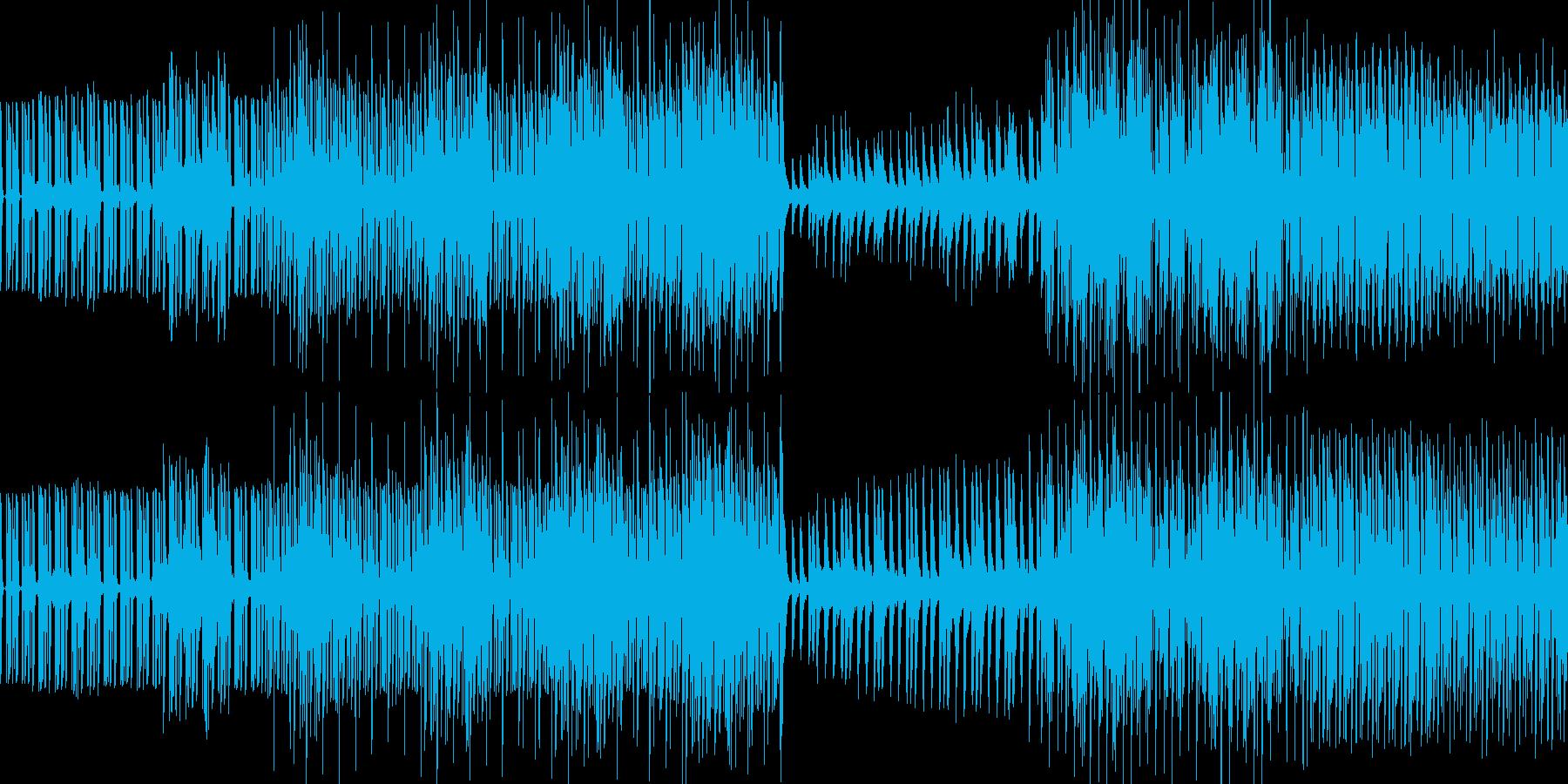 シンプルなレゲェループの再生済みの波形