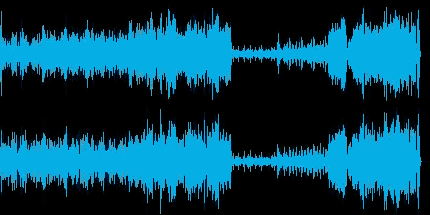 ワクワクするようなオーケストラ曲の再生済みの波形