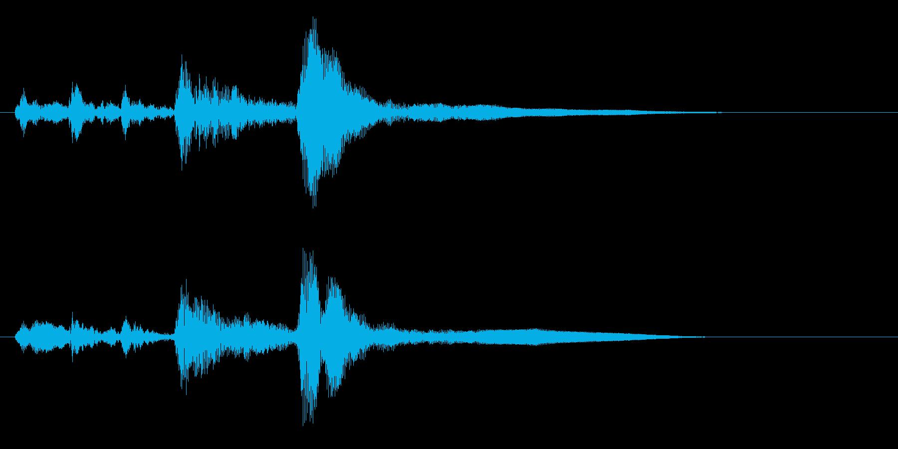 穏やかなオーケストラジングルの再生済みの波形