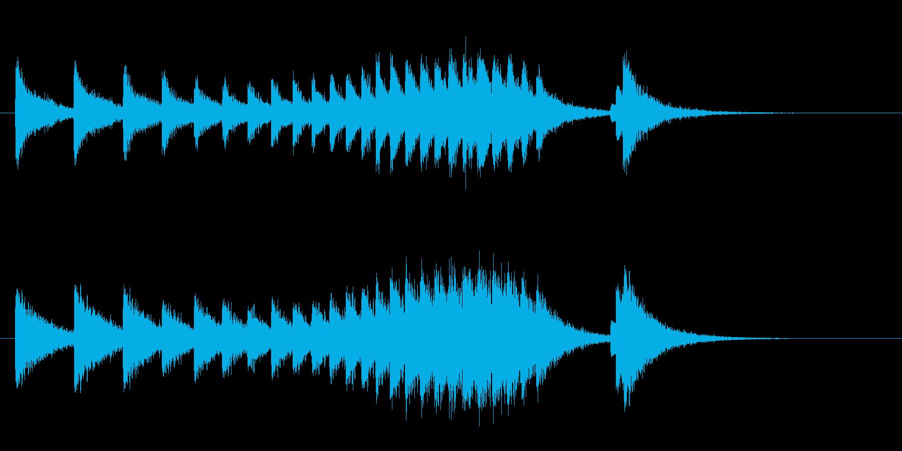 中華、カンフー演武の入場/あおり(前半)の再生済みの波形