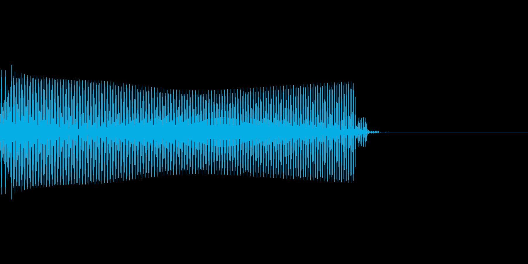 アプリのタッチ音の再生済みの波形