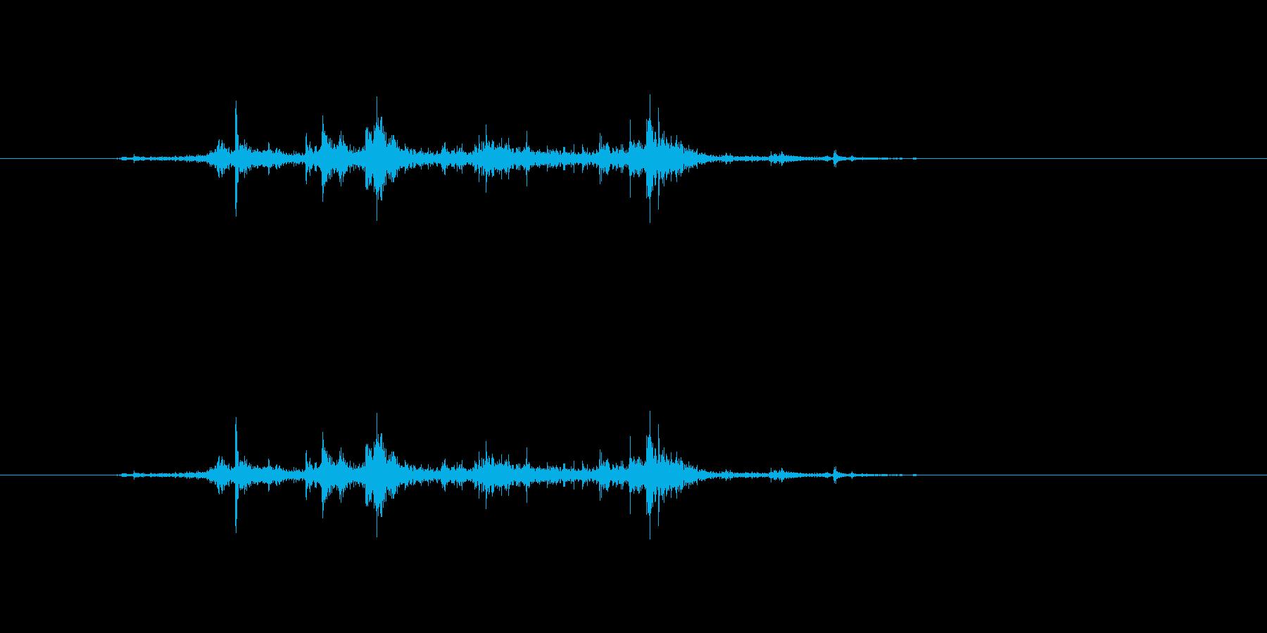 【新聞01-2(めくる)】の再生済みの波形