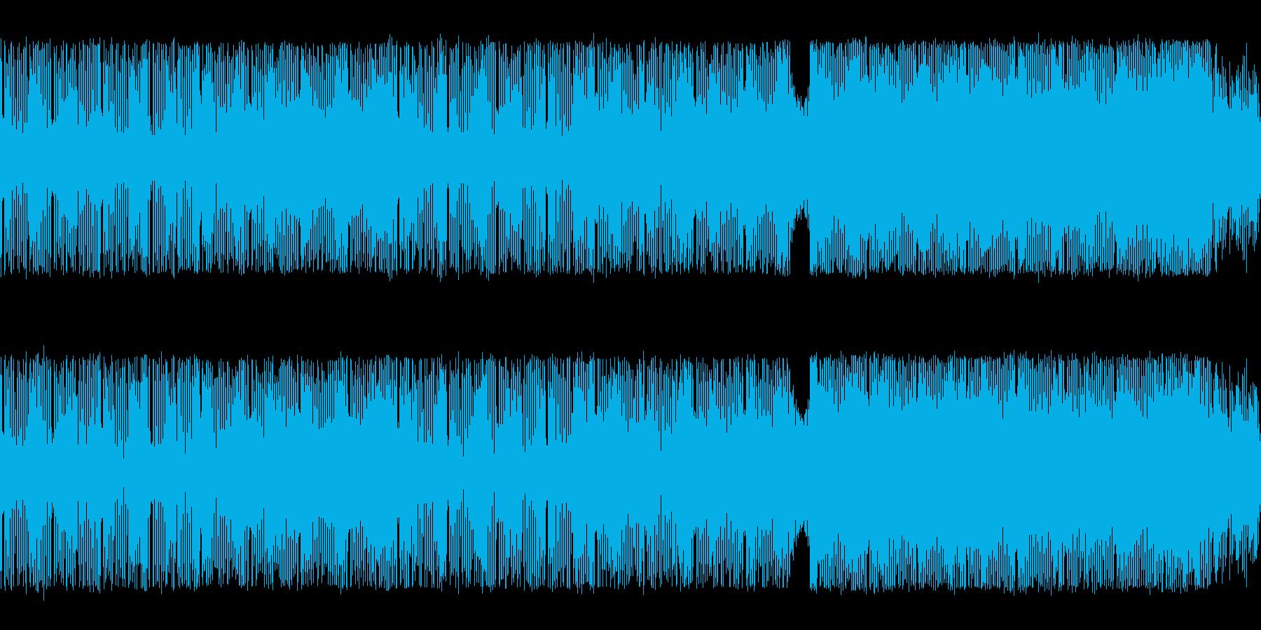 アクション向きの激しいチップチューンの再生済みの波形