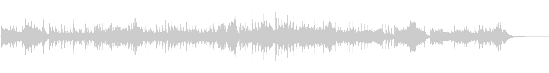 ハープの調べによる切なく多幸感のある楽曲の未再生の波形