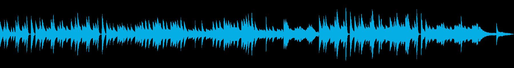 軽快で爽やかなピアノ曲の再生済みの波形