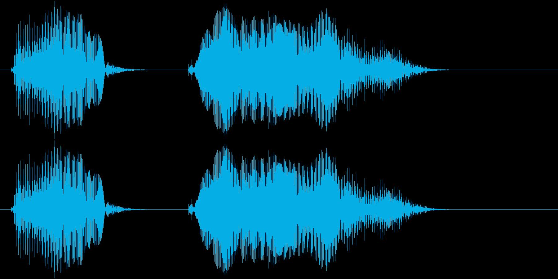 遊技機ゲーム用女性ボイス「オッケー」の再生済みの波形
