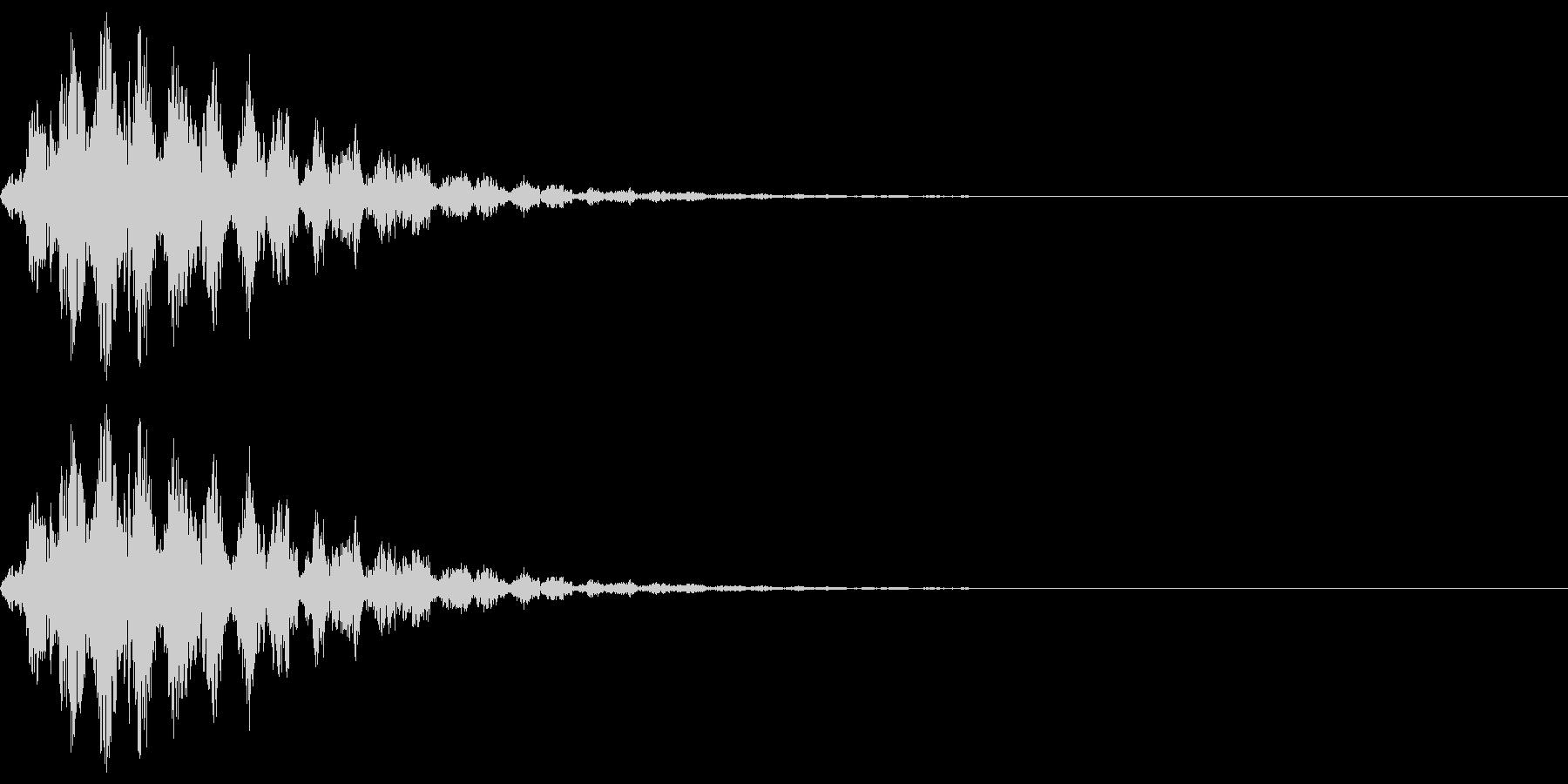 アニメにありそうな回転音(チュルルル)の未再生の波形