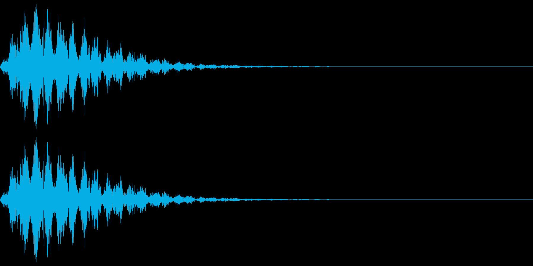 アニメにありそうな回転音(チュルルル)の再生済みの波形