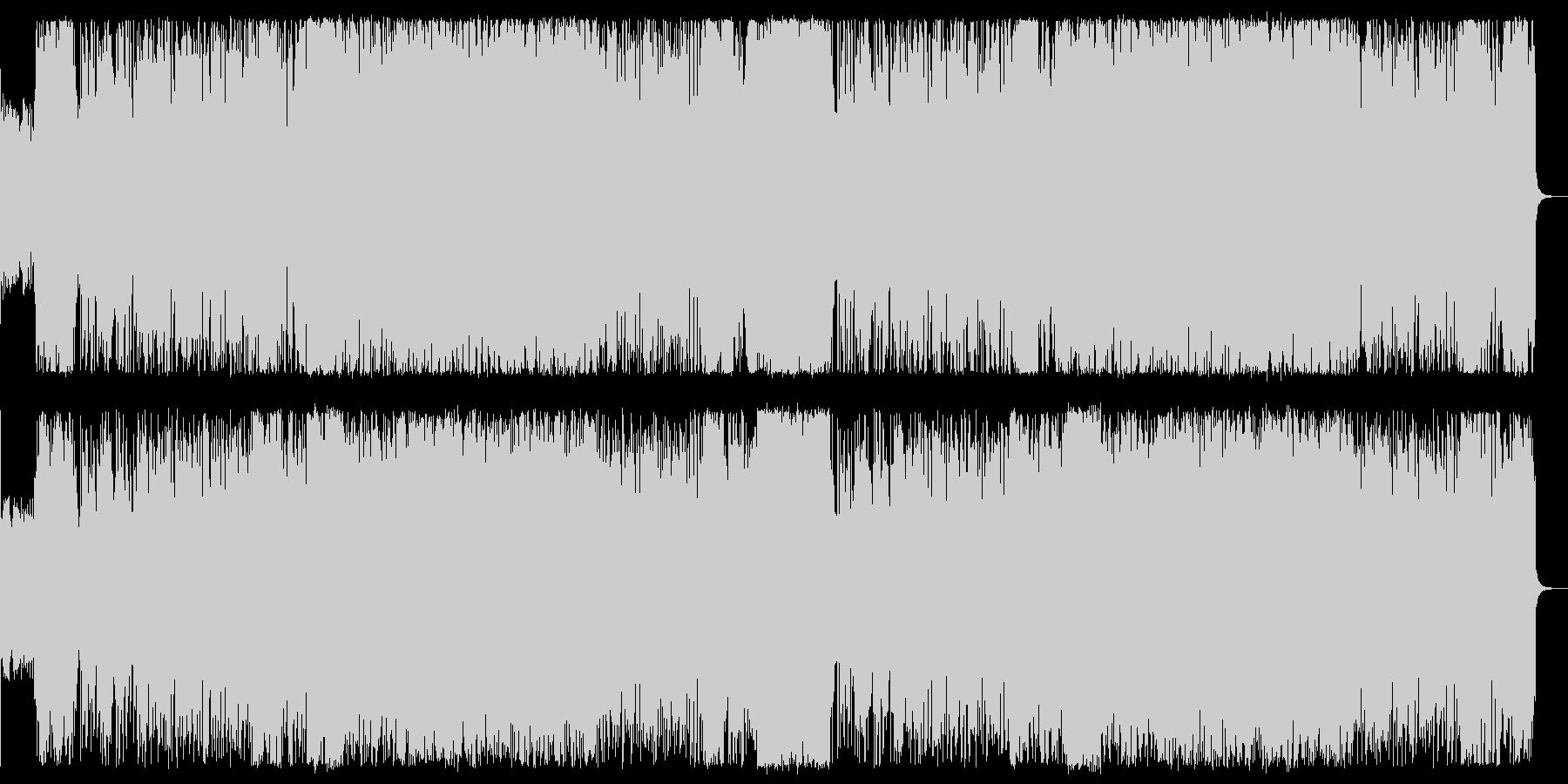 ハードなボス戦闘曲の未再生の波形