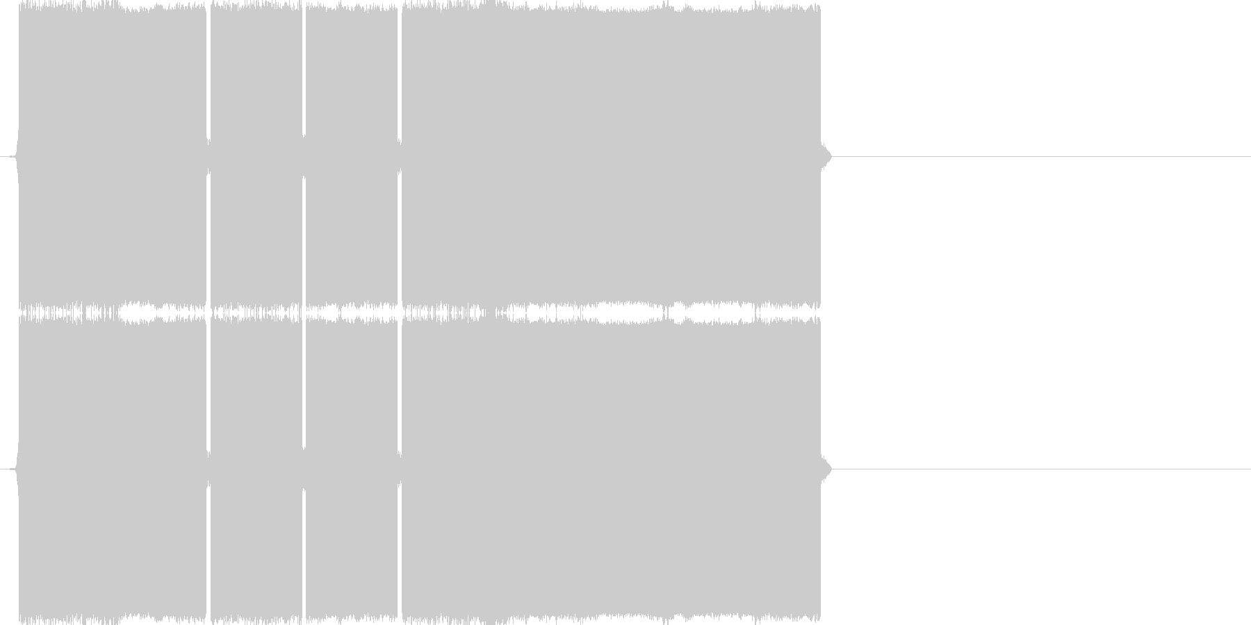 ピロピロピロー(正解の音)の未再生の波形