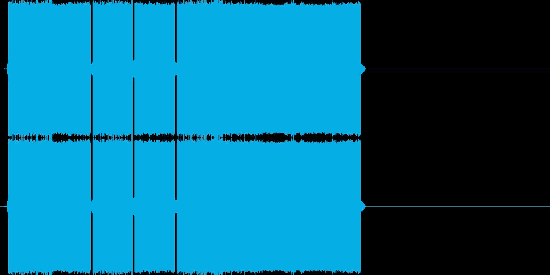 ピロピロピロー(正解の音)の再生済みの波形