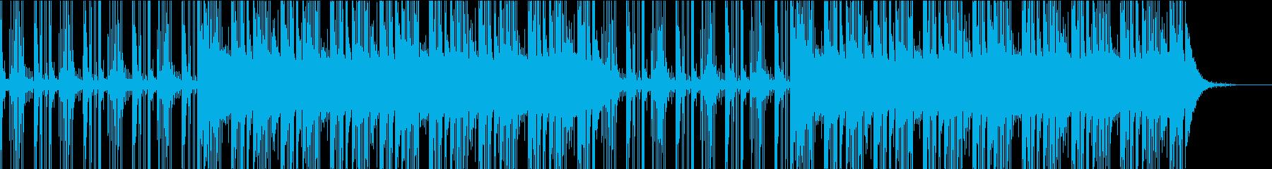 冷たい空間を感じるBGMの再生済みの波形