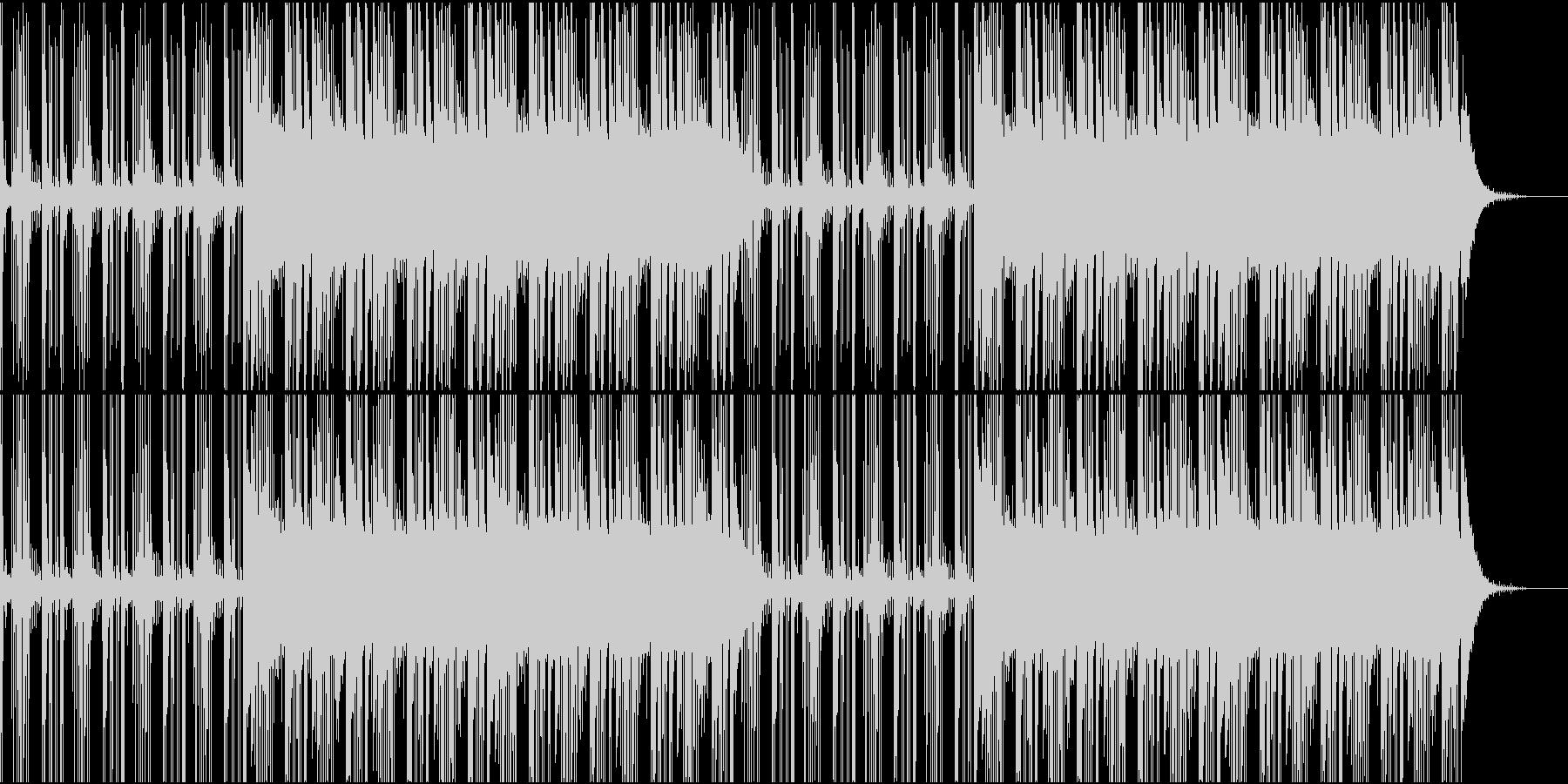 冷たい空間を感じるBGMの未再生の波形
