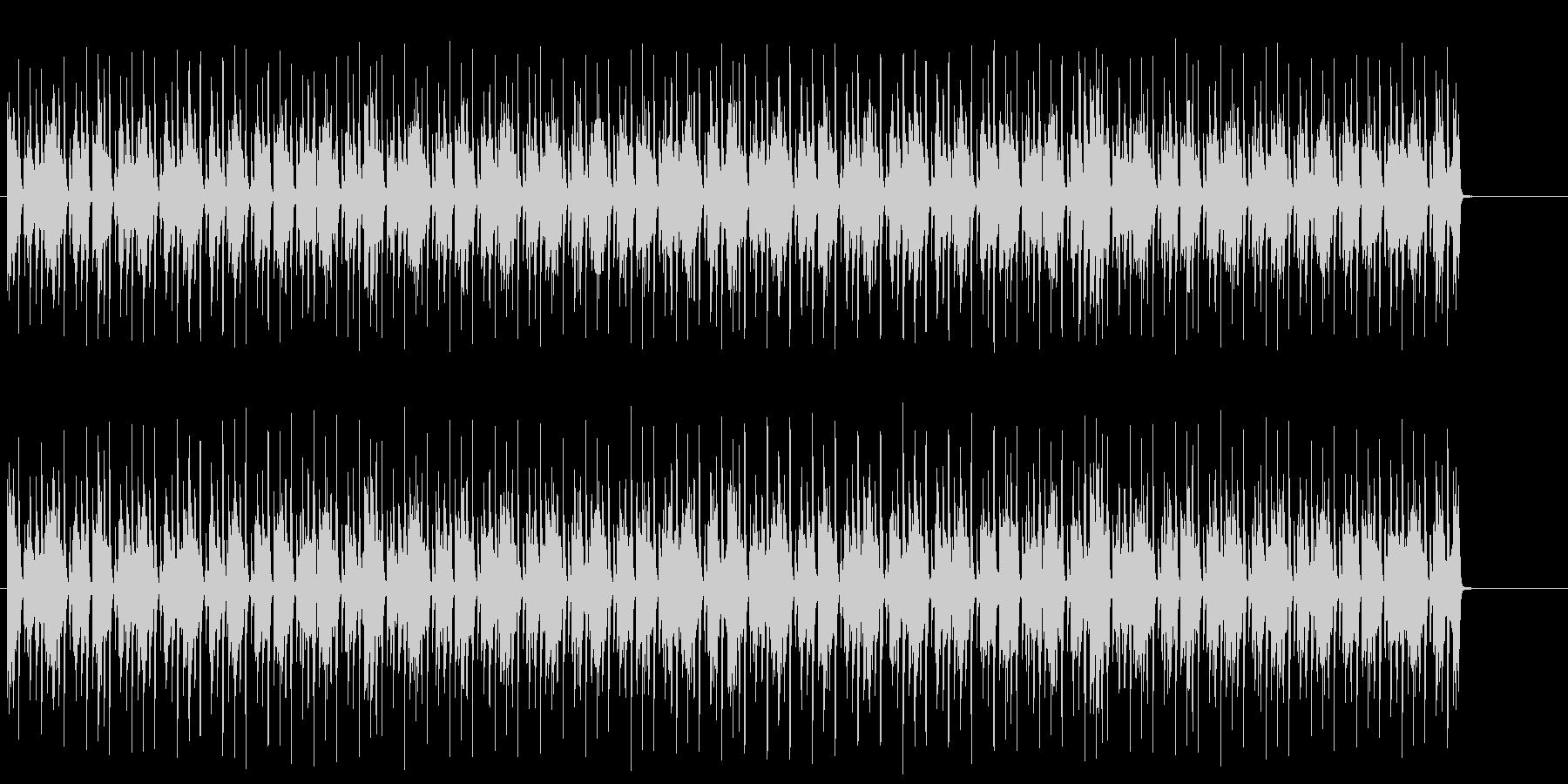 夜の都会のマイナー・テクノ/ハウスの未再生の波形