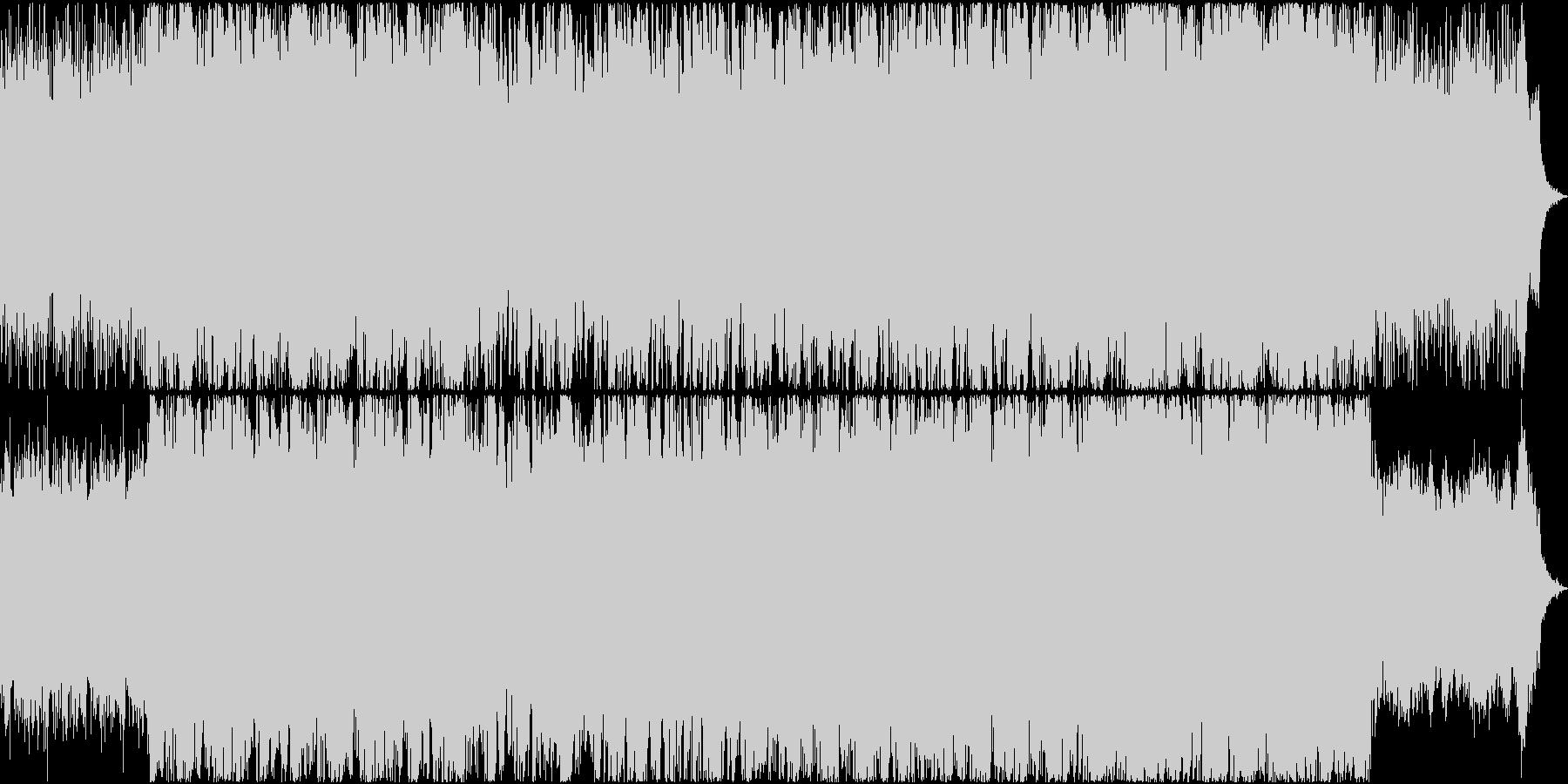 鼓舞させるようなシネマティックBGMの未再生の波形