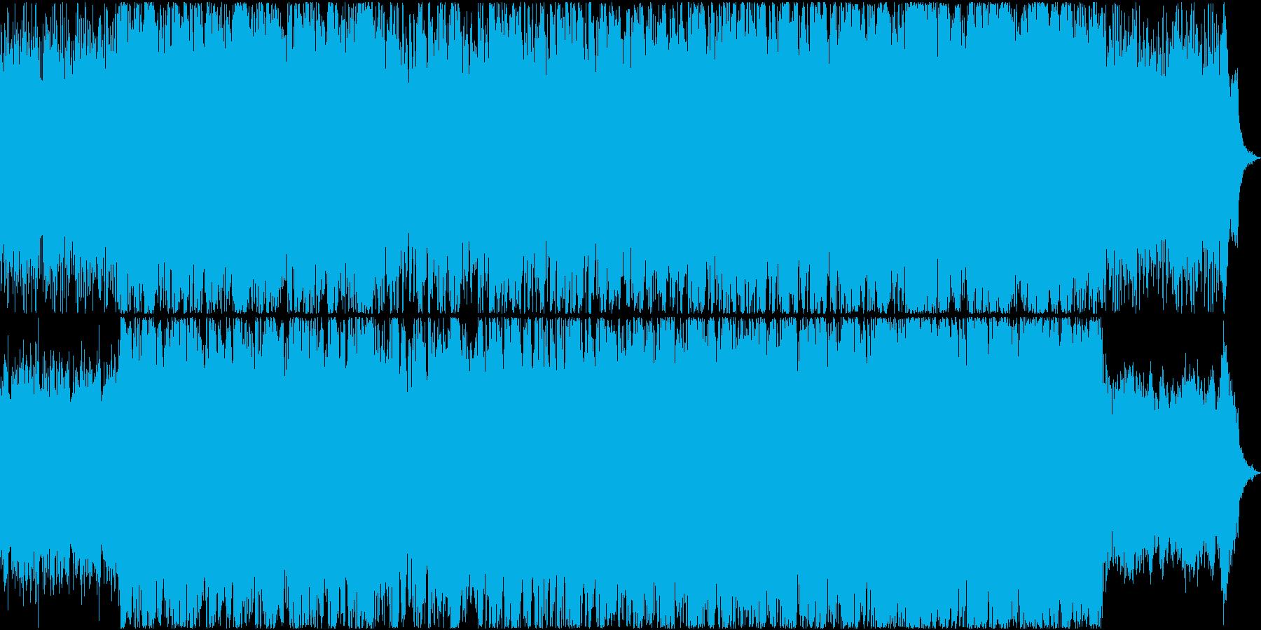 鼓舞させるようなシネマティックBGMの再生済みの波形