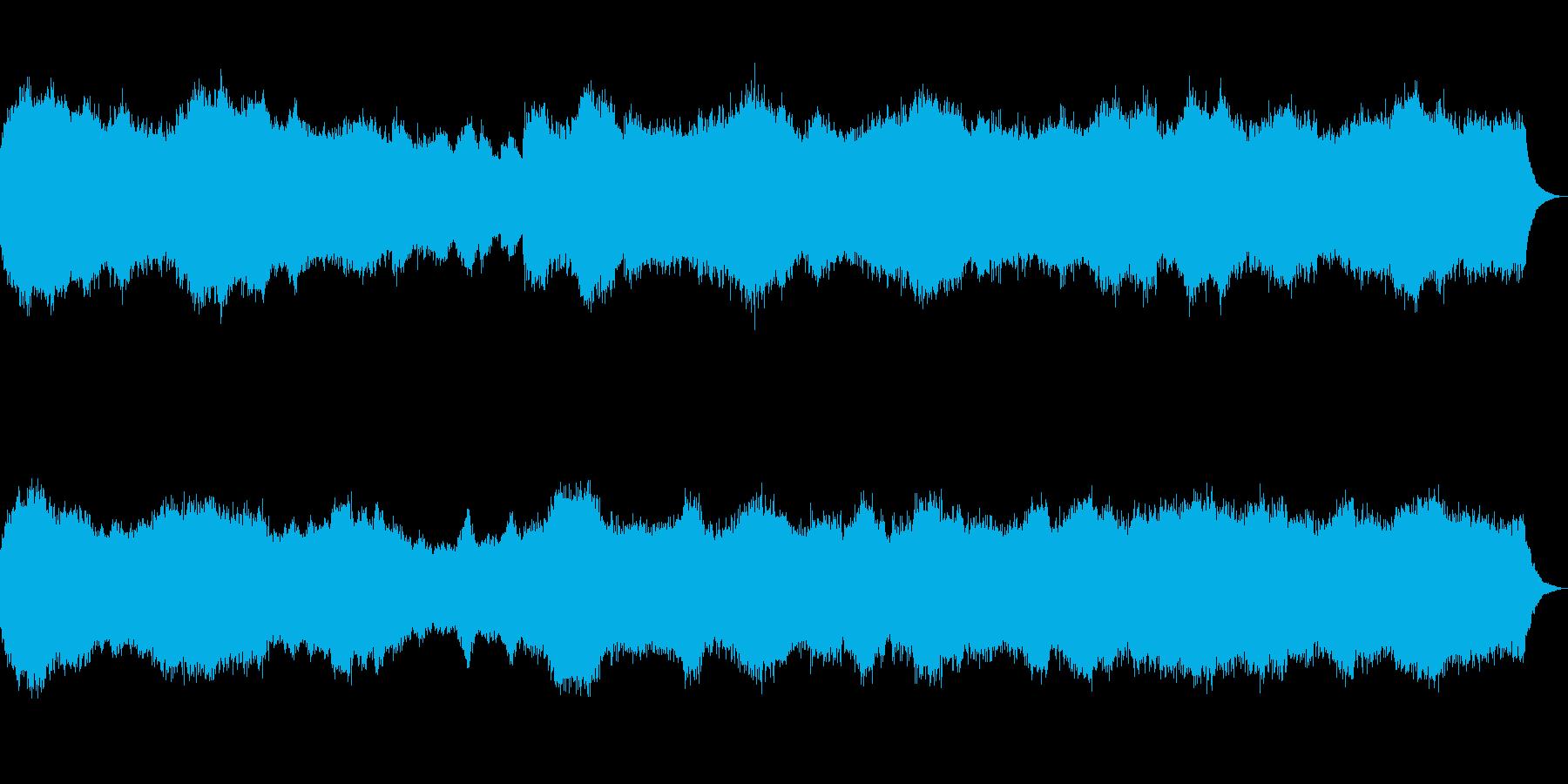 パイプオルガン教会音楽の再生済みの波形