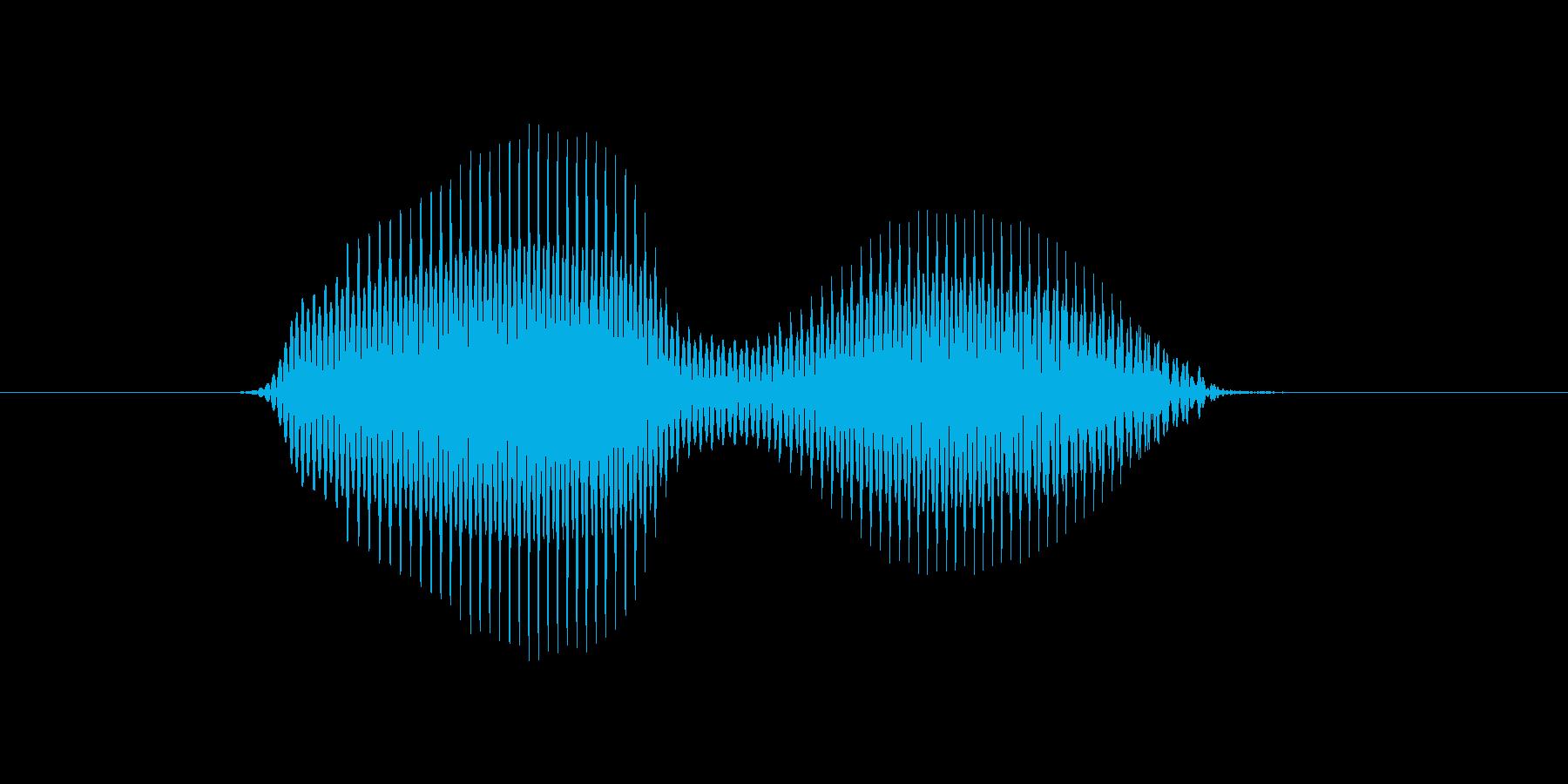 右の再生済みの波形