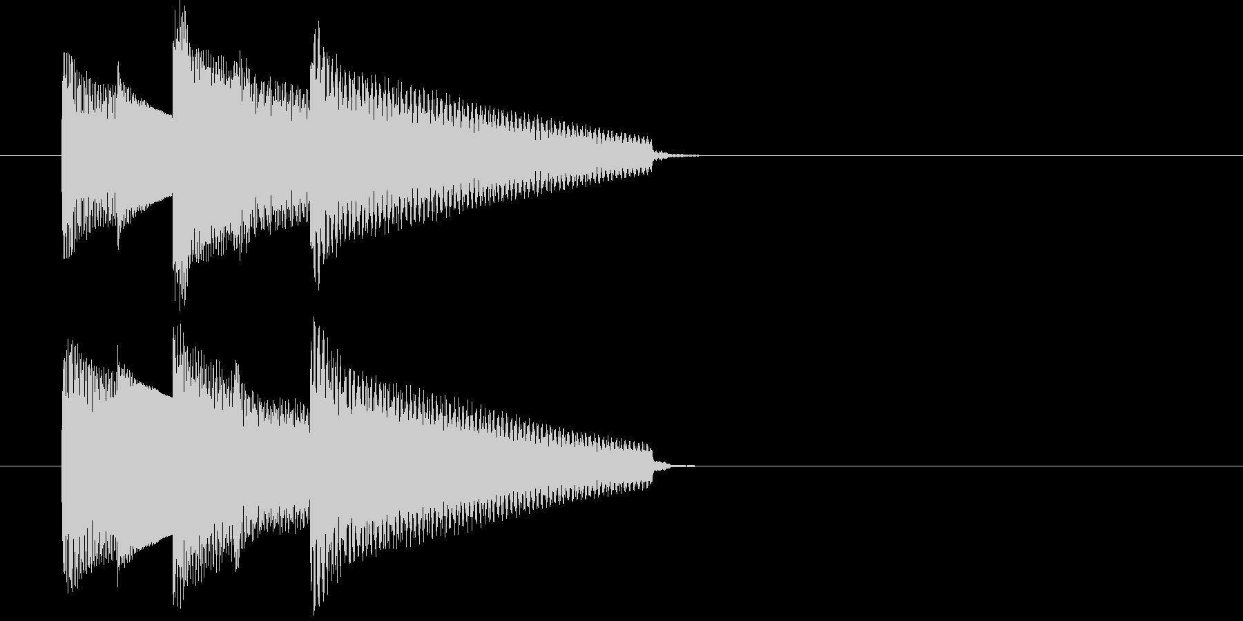 E.ピアノによる場面転換・アイキャッチの未再生の波形