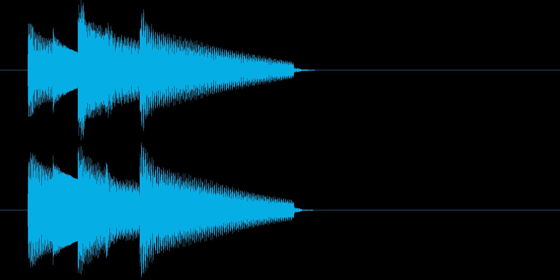 E.ピアノによる場面転換・アイキャッチの再生済みの波形