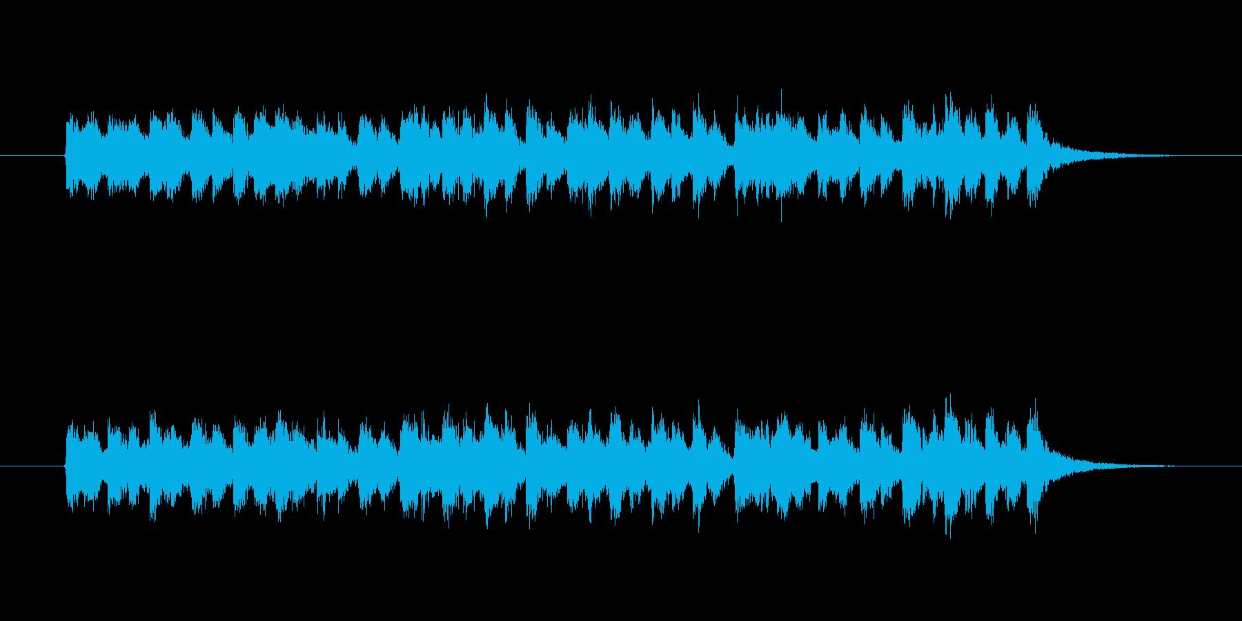 ロシア風のアコーディオンのジングルの再生済みの波形