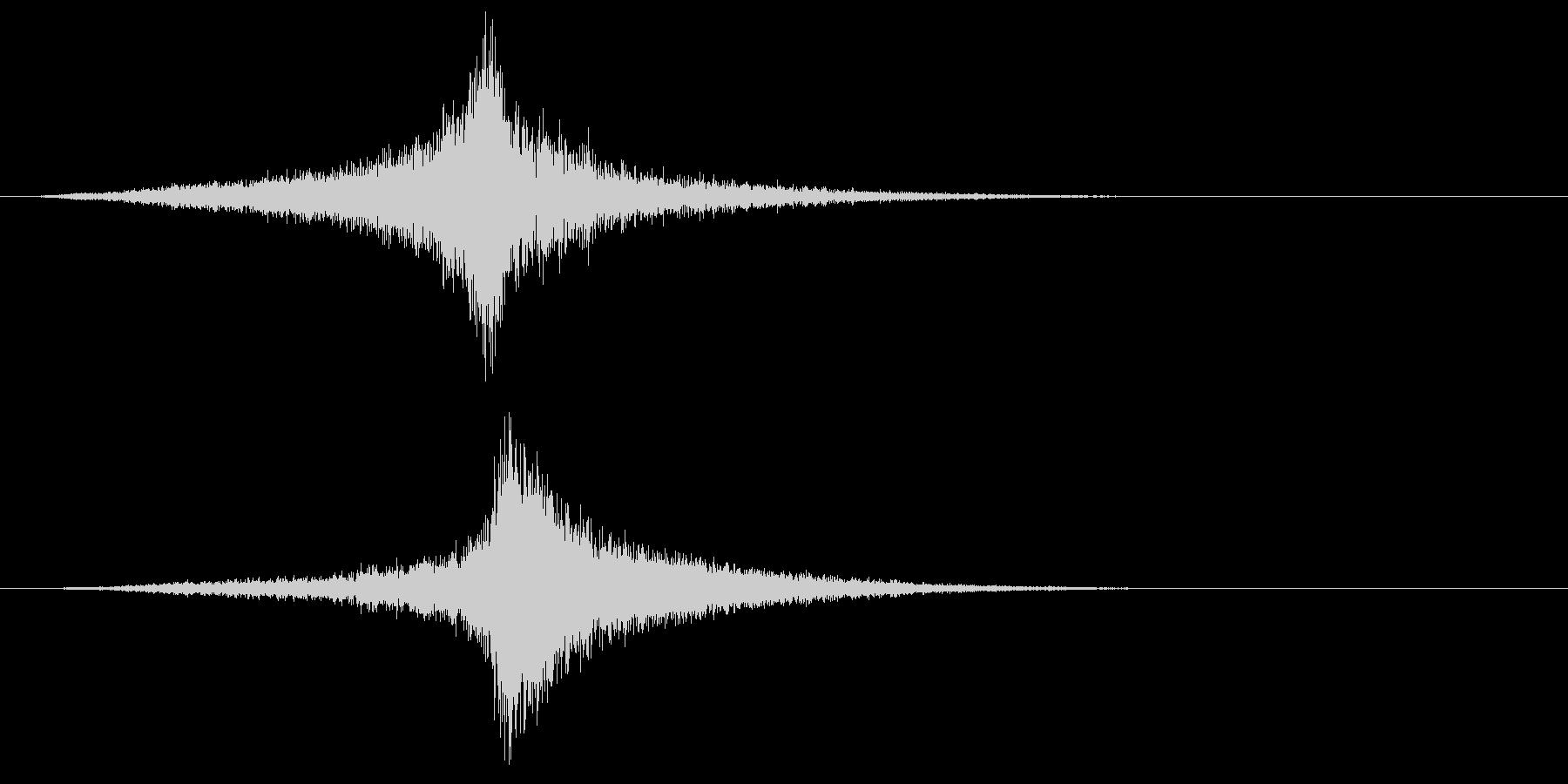 宇宙船・飛翔体#2通過 左〜右ゆっくりの未再生の波形