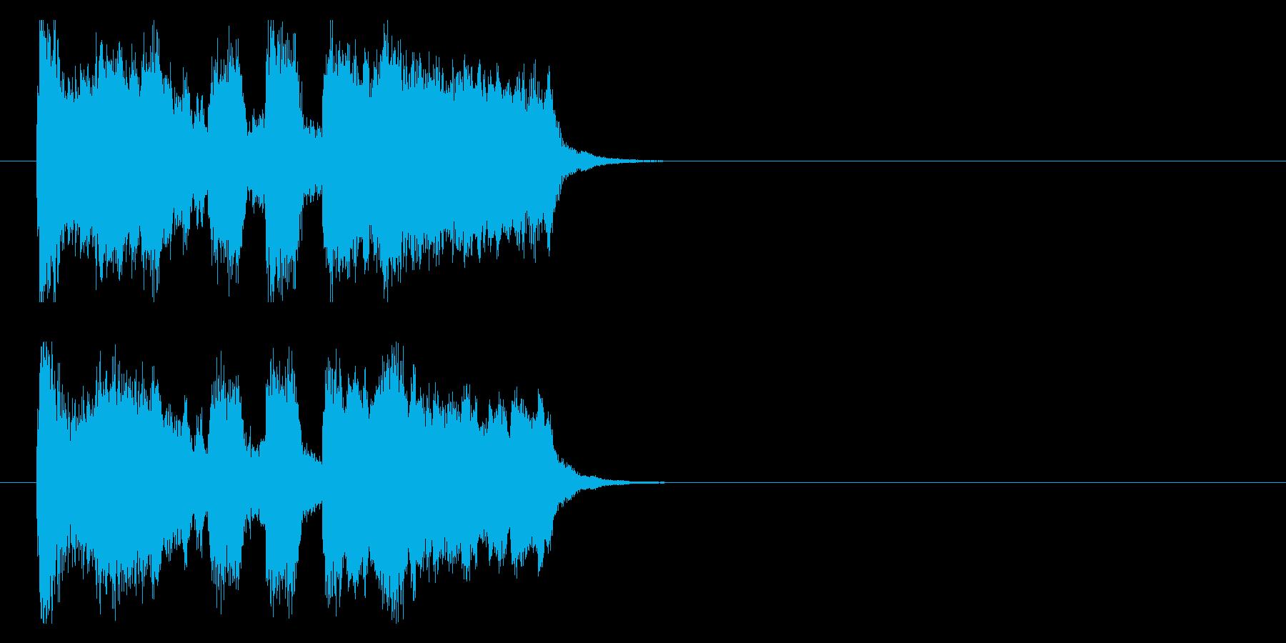 表彰に使える明るいファンファーレジングルの再生済みの波形