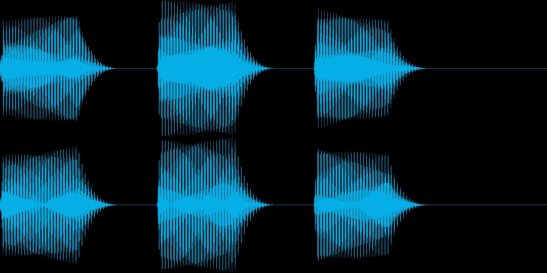 車 自動運転技術でのカーナビ警告音2の再生済みの波形