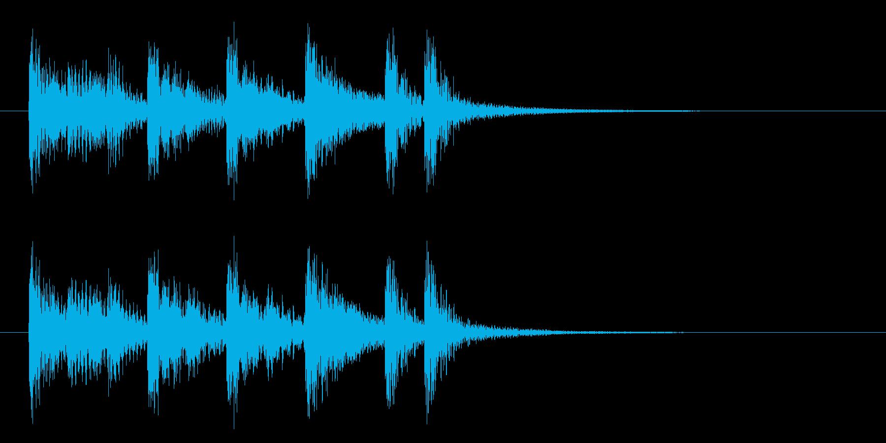 ストリングスを使った短い曲の再生済みの波形