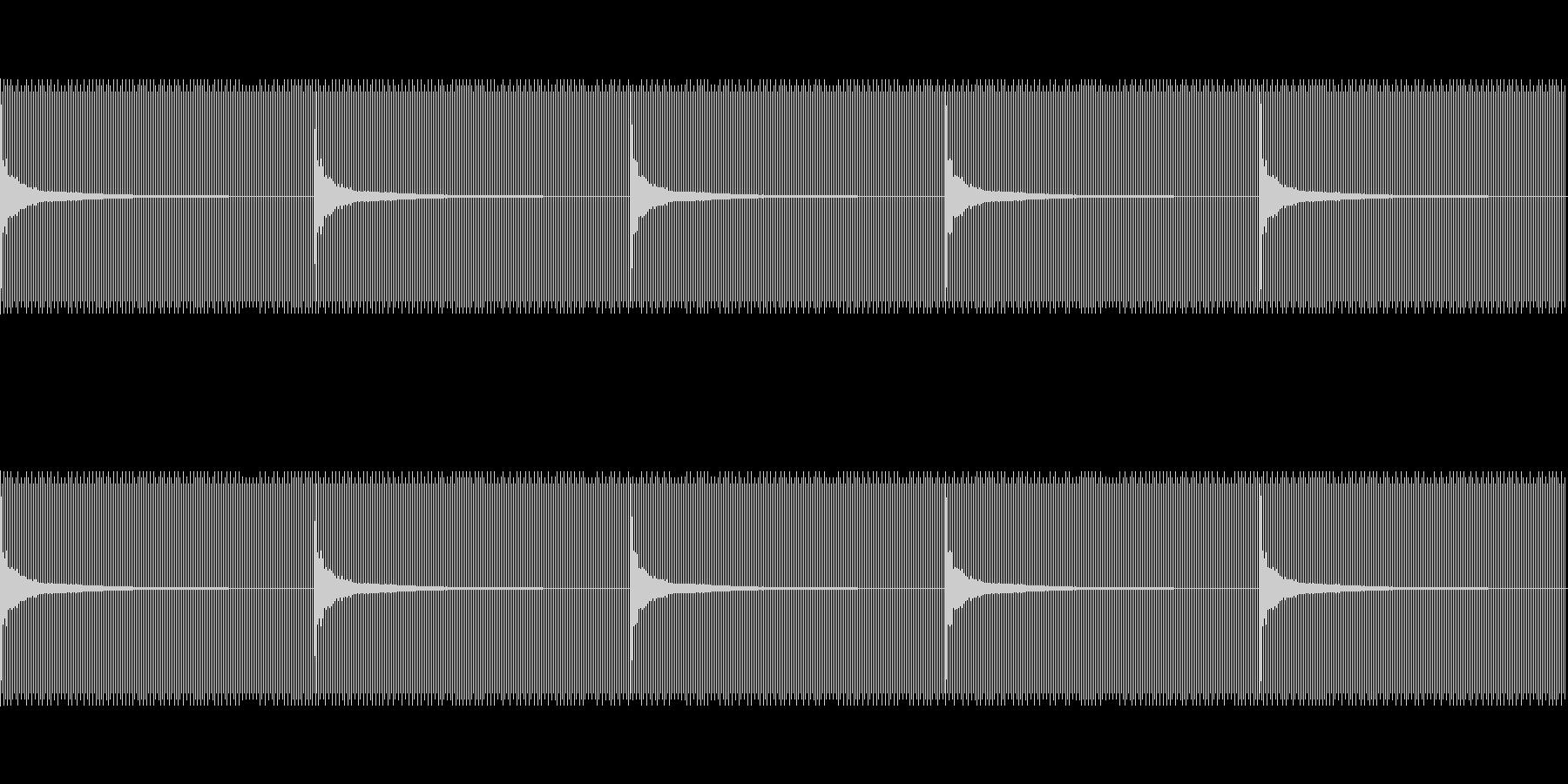 秒針と同じ速さ(1秒に1回)の未再生の波形