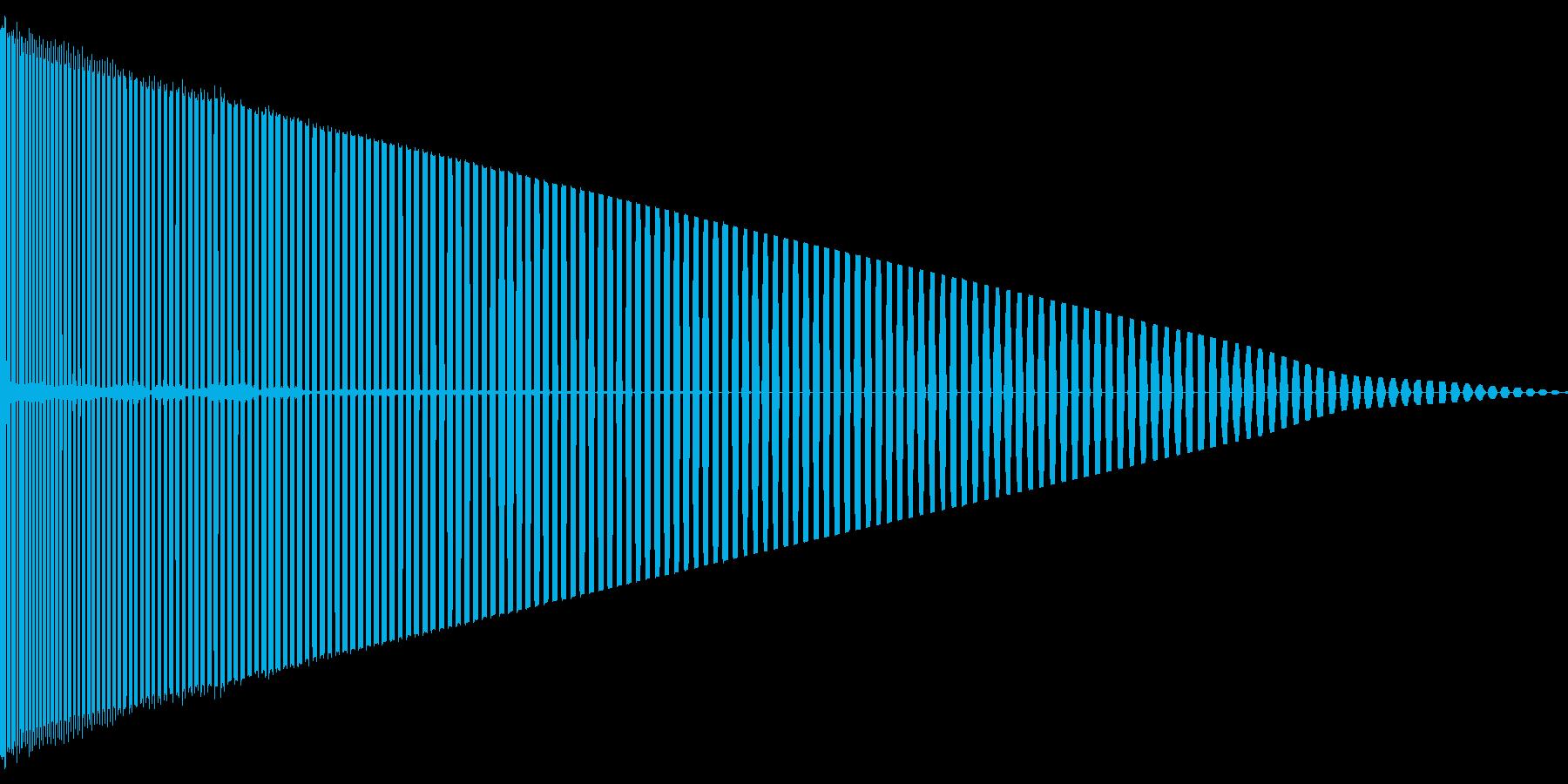 パワーダウンの再生済みの波形