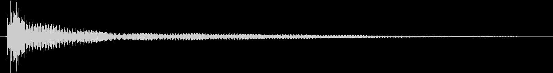 ピローン(残響有)の未再生の波形