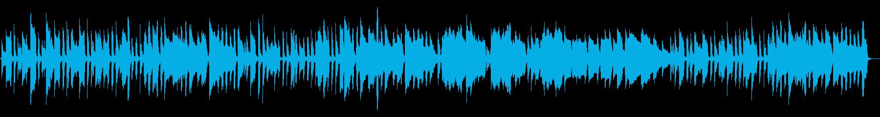 シンプルな編成のファンタジーな楽曲ですの再生済みの波形