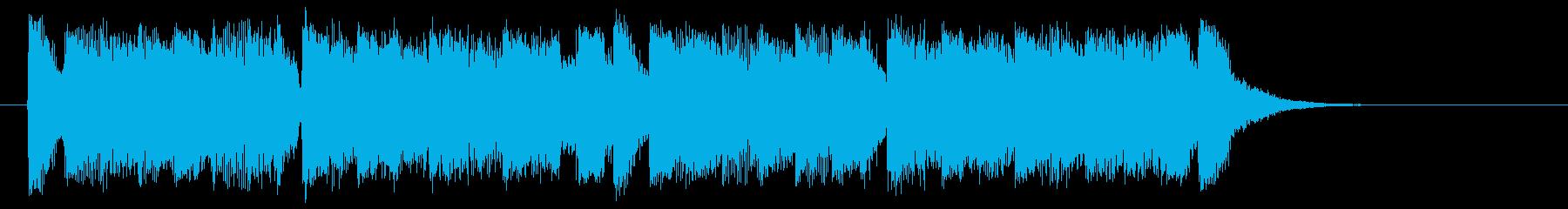勢いがありエレクトーンが印象的なBGMの再生済みの波形