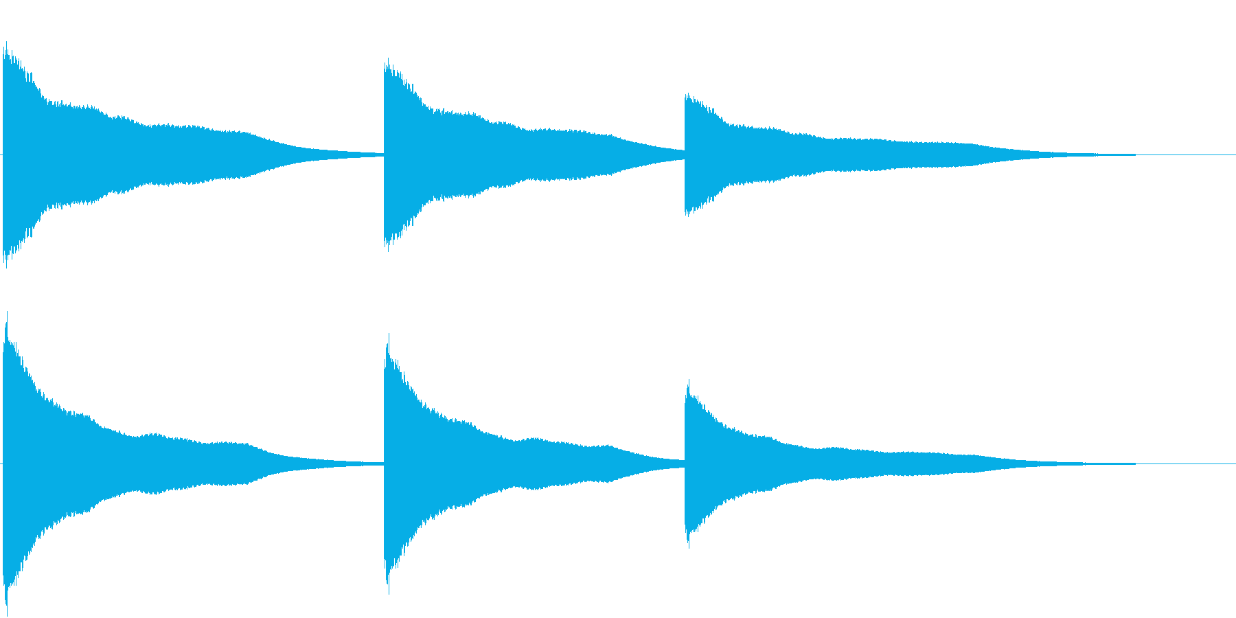 カーン(鐘をつく音)の再生済みの波形
