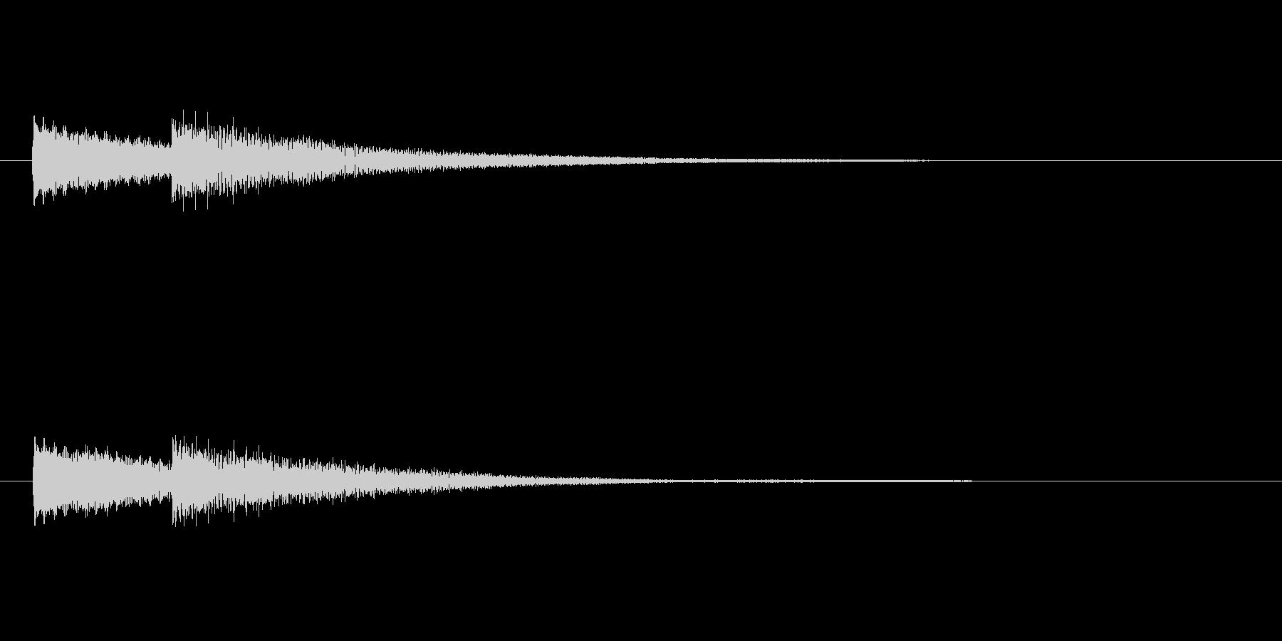 「ピンポン (玄関チャイム)」の未再生の波形