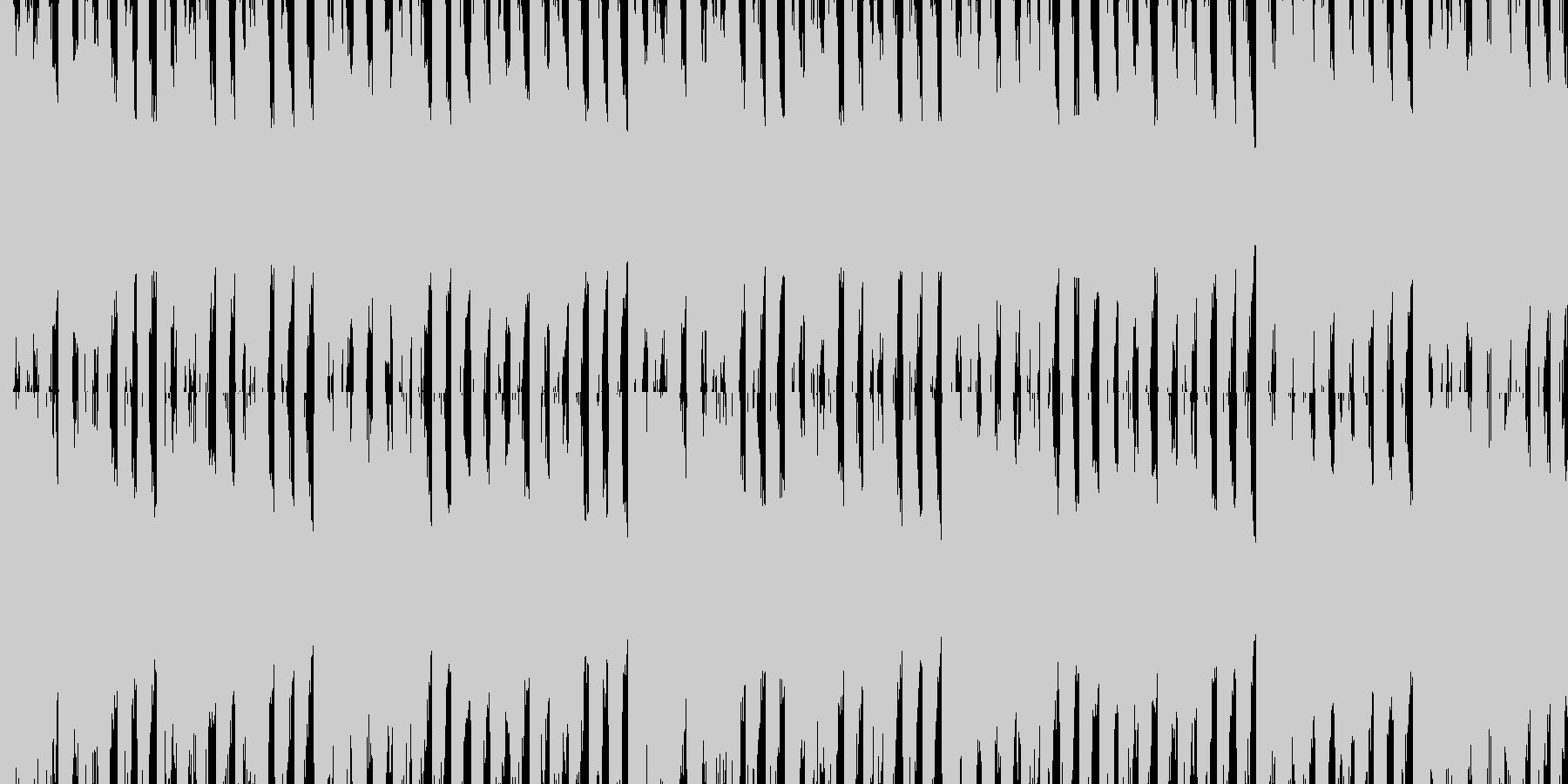 和風ロック調のループ曲の未再生の波形