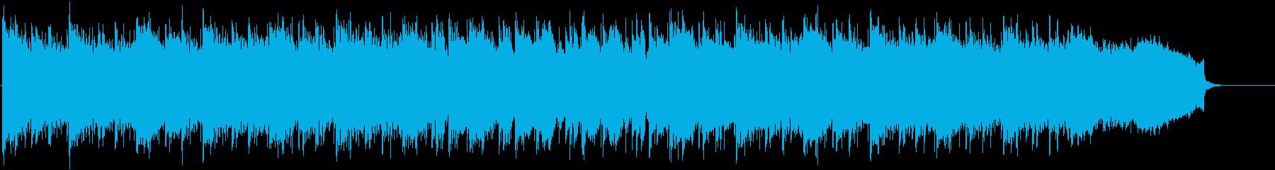 浮遊感のある幻想的なシンセサイザーの再生済みの波形