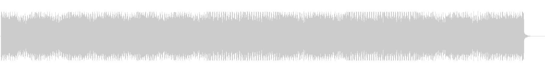 スタイリッシュなテクノBGMの未再生の波形